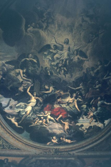 Painting on the Chapel Ceiling, Chatsworth House, 1975