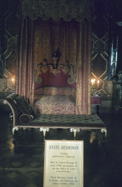 Chatsworth House Interior - The State Bedroom