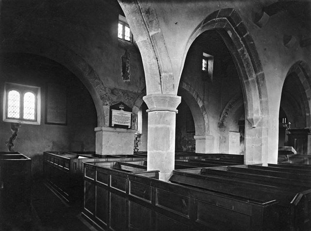 Interior, St John the Baptist Church, Ault Hucknall, late 19th century