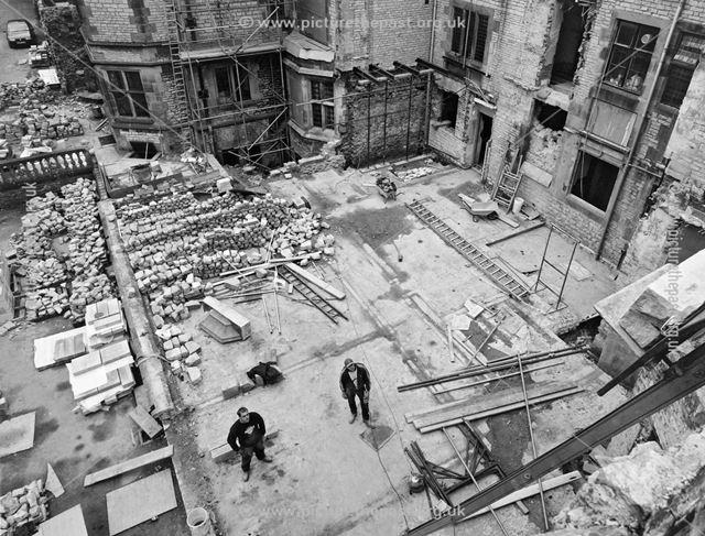 Demolition work at Thornbridge Hall, March 2000