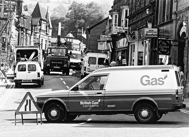An Underground fire on Dale Road, Matlock, 1990