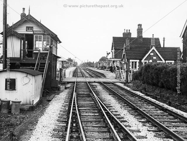 Railway Station, Sudbury, early 1960s?