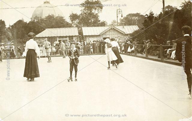 Roller Skating, Pavilion Gardens, Buxton, c 1910