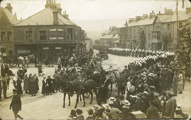 Funeral Procession, Buxton, 1918