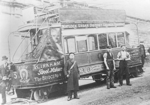 Tram Near Depot, Matlock, 1910