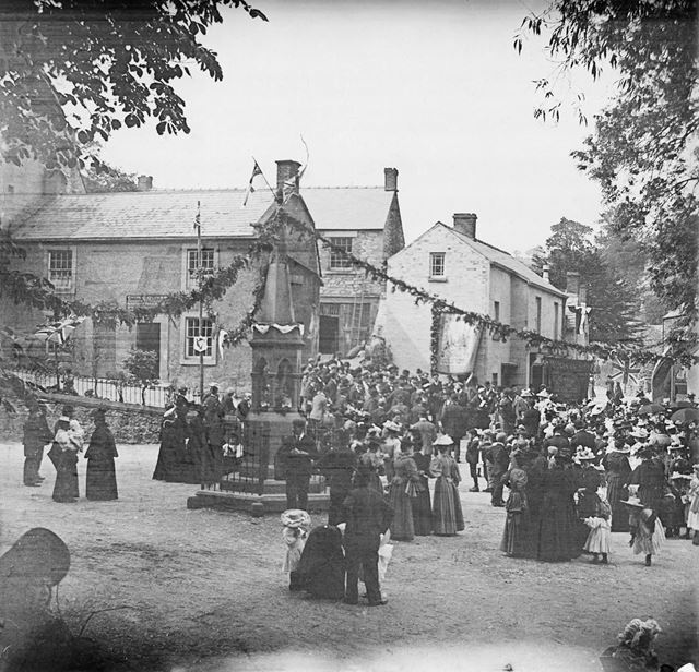 Celebrations at the Fountain, Bonsall, c 1900