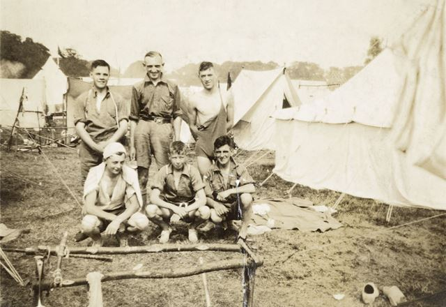 Chinley Scouts on Jamboree Camp, Vogelengzang, Holland, 1937