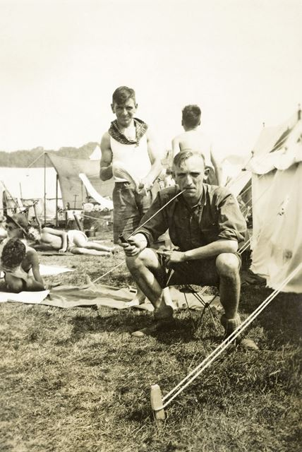 Charlie Cresswell, Scout Master at the Jamboree, Vogelengzang, Holland, 1937