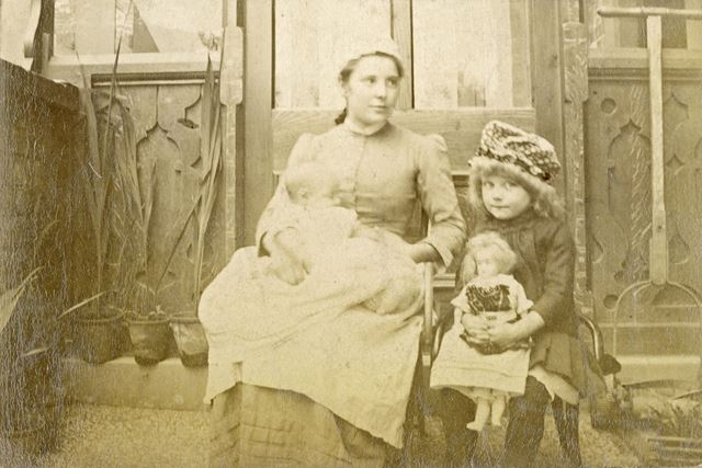 Doris Taylor and her Nursemaid, Sheffield, 1880s-1890s