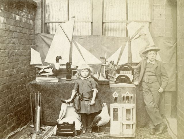 Wilmot and Doris Taylor and their Toys, Sheffield, 1880s-1890s