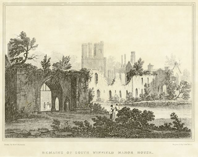 Remains of Wingfield Manor, South Wingfield, c 1800s