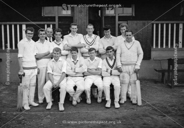 Holmewood Cricket Team, Williamthorpe Pit Lane, Holmewood, 1966
