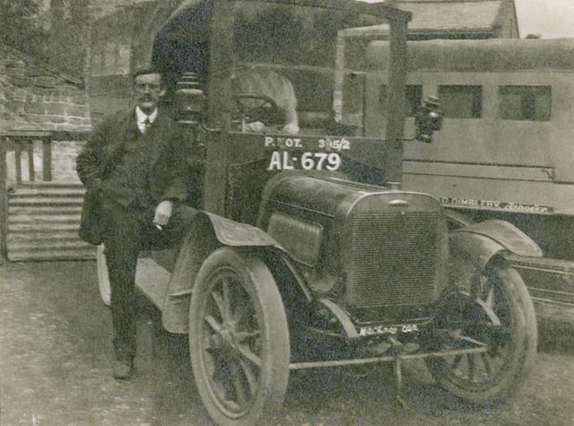 Mr David Dimbleby's First Bus, Ashover, 1918