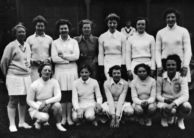 Great Longstone Ladies Cricket Team, The Recreation Ground, Great Longstone, 1954