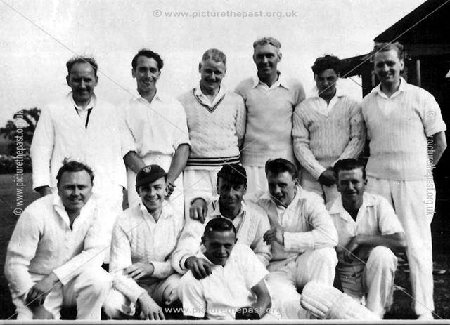 Great Longstone Cricket Team, The Recreation Ground, Great Longstone, 1956
