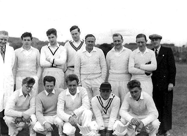 Great Longstone Cricket Team, The Recreation Ground, Great Longstone, 1956