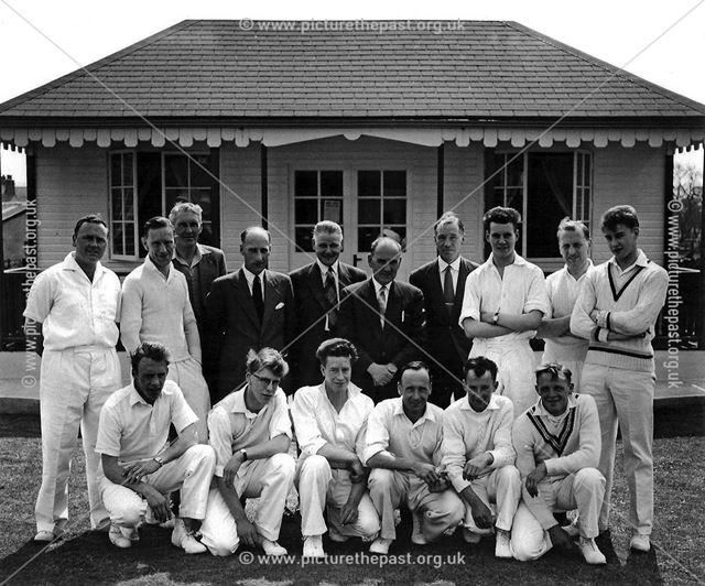 Great Longstone Cricket Team, The Recreation Ground, Great Longstone, 1958