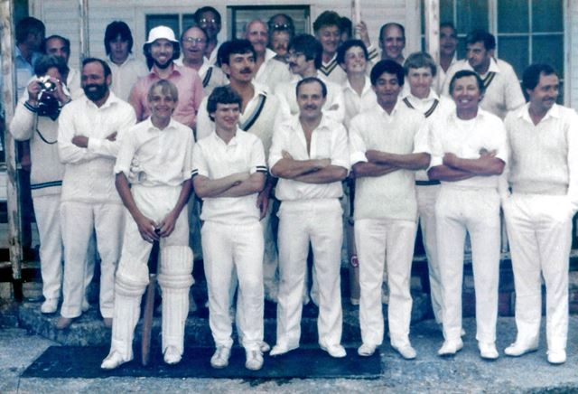 Great Longstone Cricket Club Members, The Recreation Ground, Great Longstone, 1983
