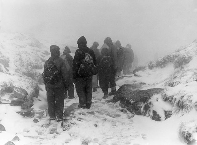 'Blizzard in the Clouds', Kinder Scout, Edale, c 1977