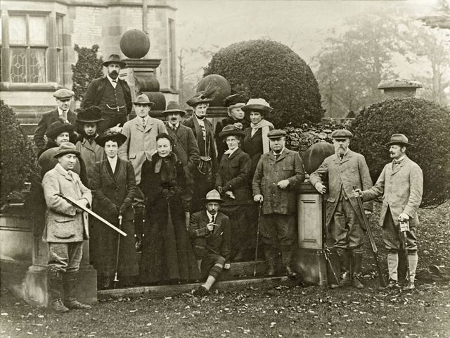 Shooting Party at Thornbridge Hall, Great Longstone, 1911
