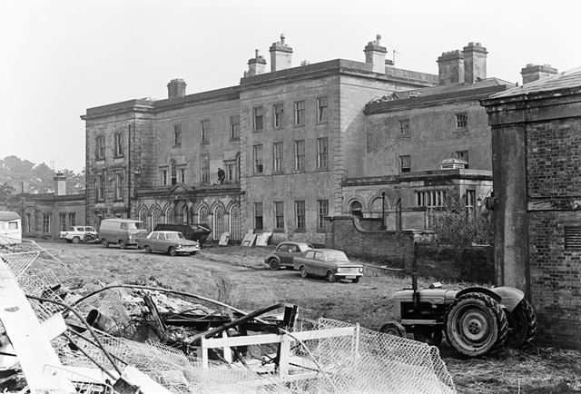 Stainsby House in Process of Demolition, Main Road, Smalley, 1972