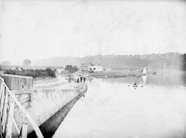 River Trent at Trentlock, c 1900s ?