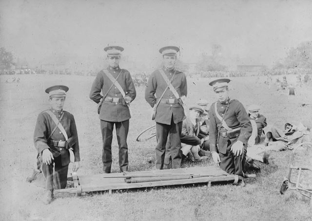 St John Ambulance Brigade members, Ilkeston, c 1910?