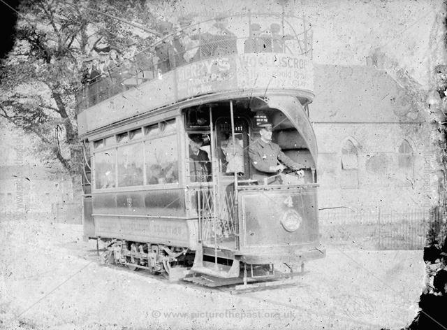 Ilkeston Corporation tramcar No 4, c 1910 ?