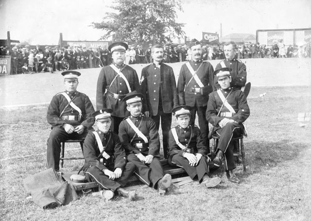 St John Ambulance Brigade members, Ilkeston, c 1910 ?