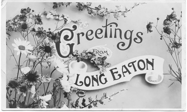 'Greetings from Long Eaton', Greetings Card, c 1900s