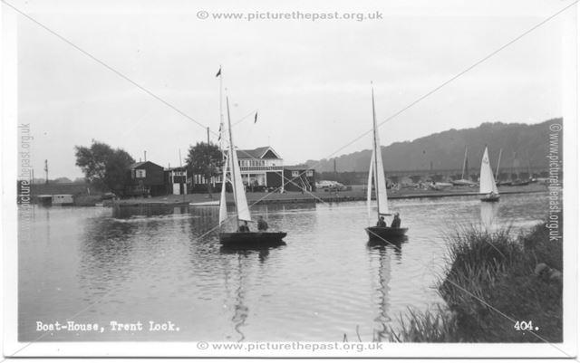 Trent Valley Sailing Club, Trent Lock, Long Eaton, c 1950s