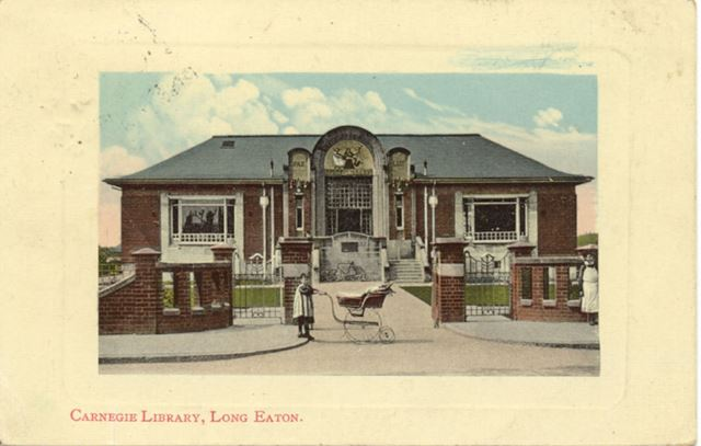 Carnegie Library, Tamworth Road, Long Eaton, c 1910s
