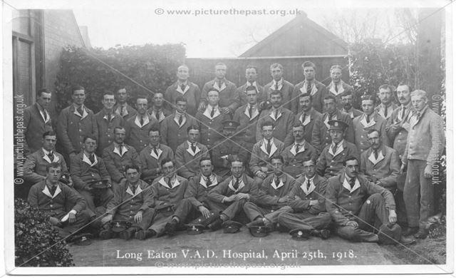 V. A. D. Hospital, Trent College, Long Eaton, 1918
