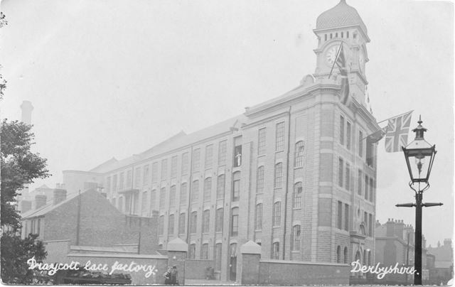 Victoria Mills Lace Factory, Station Road, Draycott, c 1910s