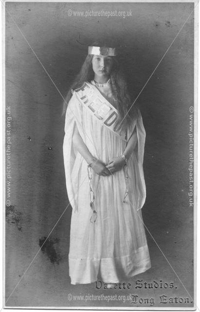 Girl in 'Freedom' sash