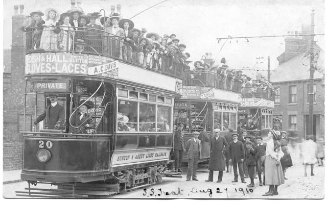 Trams on Burton and Ashby Light railway - maybe an outing?