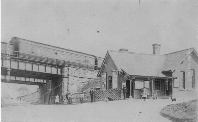 Doe Hill station between Tibshelf and Morton, c 1900s