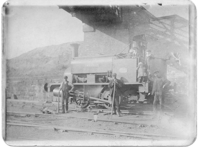 Colliery engine under bridge, Swanwick Colliery