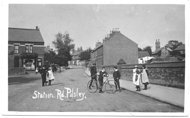 Station Road, Pilsley, c 1910 ?