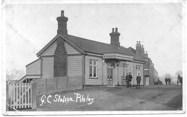 Railway station, Pilsley, c 1910 ?