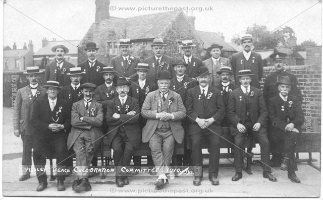Peace Celebration Committee, Pilsley, 1919 ?