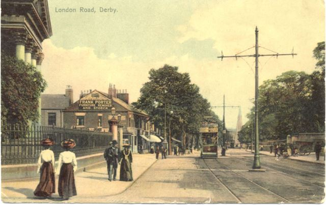 London Road, Derby, c 1900s