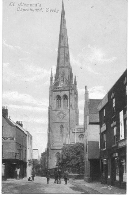 St. Alkmunds Church, Queen Street, Derby, c 1920s ?