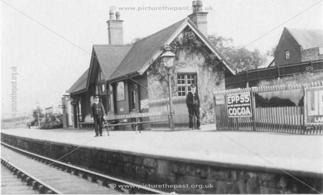 Crosshill and Codnor railway station, Cross Hill, c 1900s