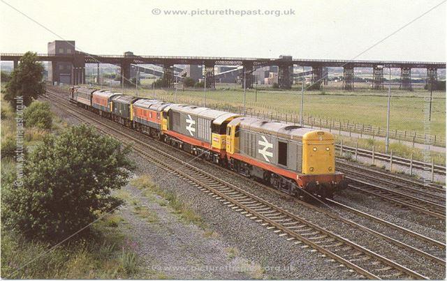 British Rail Diesel Engines, Awsworth Road Overbridge, Ilkeston, c 1980s-1990s