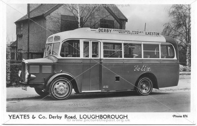 Felix Derby (Chaddesden, Stanley, West Hallam) Ilkeston bus