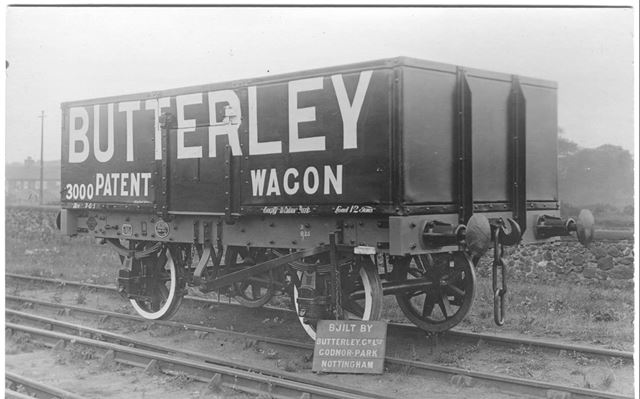A Patent Railway Wagon built by Butterley Co. Ltd, c 1900s-1920s