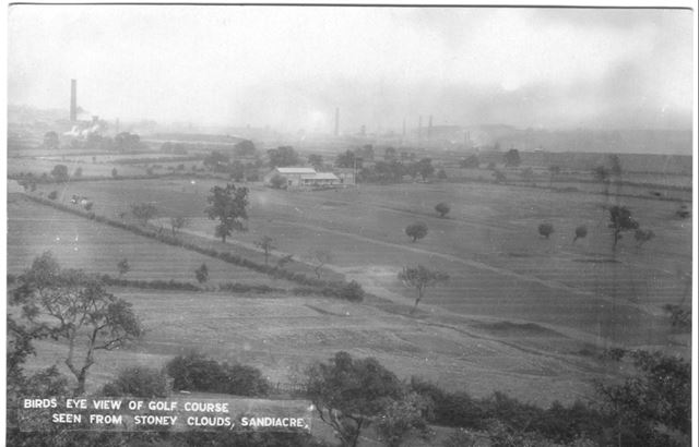 Bird's Eye View of Golf Course, seen from Stoney Clouds, Sandiacre