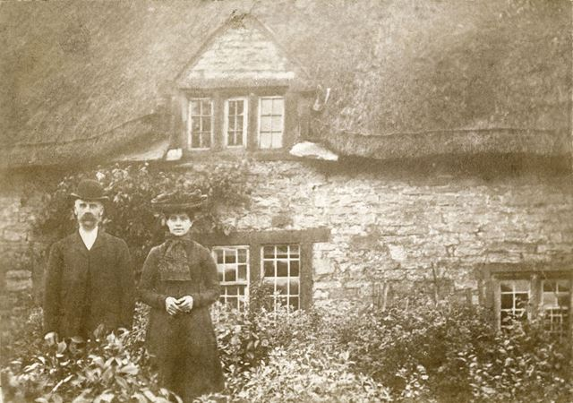 William and Martha? Walters Outside Their Cottage