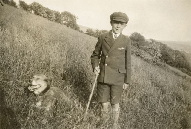 Stanley Gregory and His Dog
